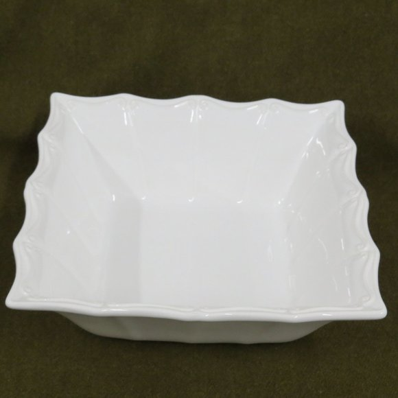 "Ceriart Other - Ceriart Large 11-1/2"" Square White Serving Bowl"